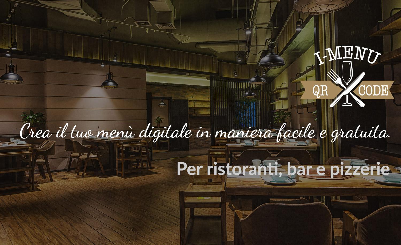 Menu digitale per ristoranti, agriturismi e pizzerie